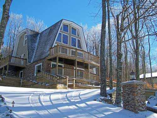 Home beech mountain nc luxury home for sale for Boone ski cabin rentals